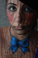 Marionette face/body paint by ElleFX