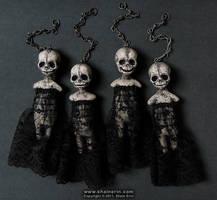 Harbinger Art Doll Ornies by shainerin