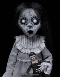 Christina - Ghost Art Doll Figurine by shainerin