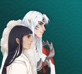 Sesshomaru and Kagome by lily-girl414