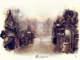 Moon Cityscene by ameshin