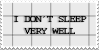 I Don't Sleep Very Well STAMP by KaomojiKun