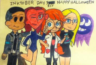 Inktober 2018 Day 31st: Happy Halloween by ricol-wildcat