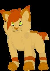 Happy little lynx hybrid by AkitaMutt