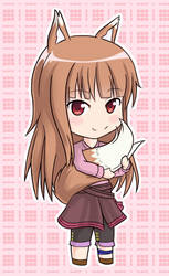 [Commission] Holo chibi by Sir-Scrumps