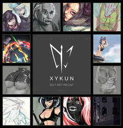 2017 Art Recap by Xykun