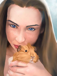 A Girl And Her Pig by NRMStudios