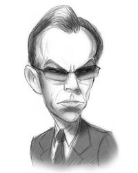 Agent Smith Sketch by timshinn73