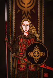 Shield Maiden Of Rohan by timshinn73
