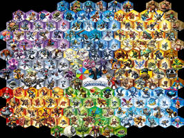 Skylanders Fighting Game Character Roster by kyurem2424