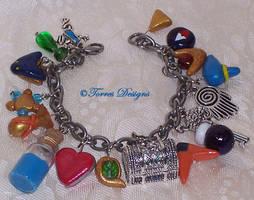 1st Ocarina of Time Charm Bracelet Zelda OOAK by TorresDesigns