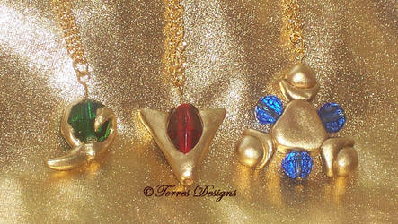 1st Spiritual Stones Necklaces Pendants Zelda OOAK by TorresDesigns