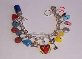 Majora's Mask Charm Bracelet Zelda Handmade Custom by TorresDesigns