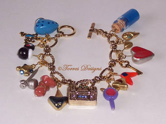 Handmade GT Ocarina of Time Charm Bracelet Zelda by TorresDesigns
