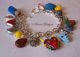 Handmade Custom Majora's Mask Charm Bracelet ZELDA by TorresDesigns