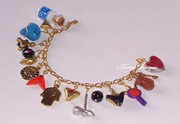 GT Ocarina of Time Charm Bracelet Zelda Handmade by TorresDesigns