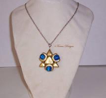 Twilight Prince Zora Sapphire Necklace Handmade by TorresDesigns
