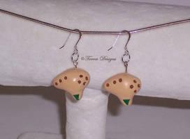 Handmade Fairy Ocarina Earrings SterlingSilverHook by TorresDesigns