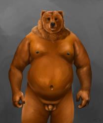 Bear/Man (Nude) by WilliamShy