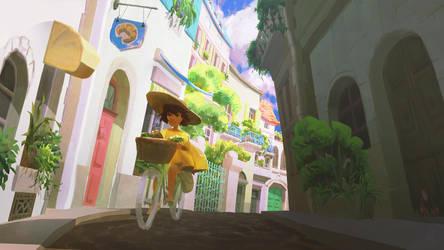 sunny bikeride by irismuddy