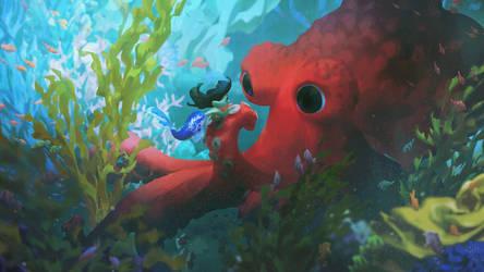 in an octopus' garden by irismuddy