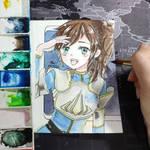 [ART TRADE] Electro Aquarius by Jasmine-Kao