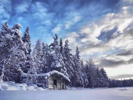 Barn in Sunrise by FinJambo