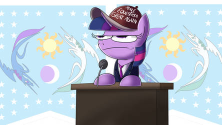 Twilight Sparkle for President by PiemationsArt