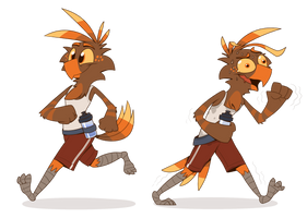 Out for a run by PiemationsArt