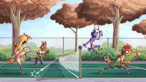 Bird Tennis by PiemationsArt