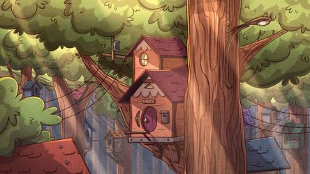 Bird Village by PiemationsArt