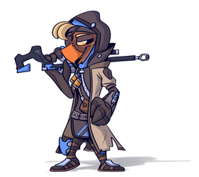 Pretzel but he's Ana by PiemationsArt