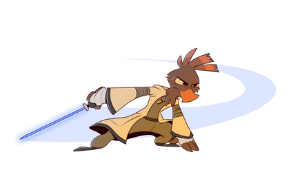 Pretzel but he's a Jedi this time by PiemationsArt