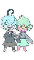 Chibi Sleep And Muli {AT} by Distressed-Pigeon