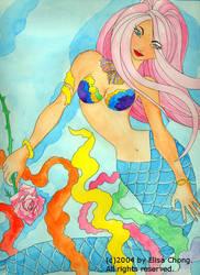 Aquamarinne and a rose by sofianime
