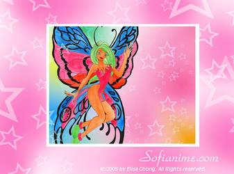 Butterfly Faerie Wallpaper by sofianime
