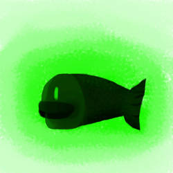 A green dark colored fish by Androgandor
