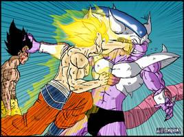 -DBM- Goku VS King Cold by DBZwarrior