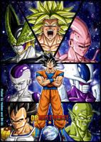 -DBM- Goku's enemies - Colored by BK-81 by DBZwarrior