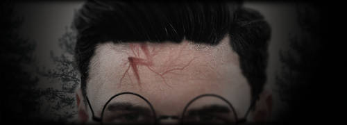 How I imagined Harry's scar by elgeekay