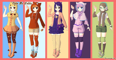 Color Me Lolita Dress Up Game by DressUpGamescom