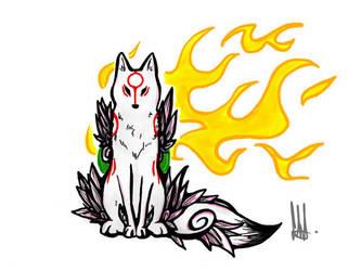 Okami Amaterasu by wolfsouled
