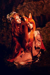 Inari And Kitsune (Japanese Mythology) by Faid-Eyren