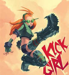 Kick Girl by BoyFugly