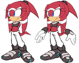 New Character: Strike the Echidna by v-16