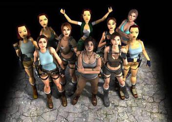The Evolution of Lara Croft by joaoppereiraus
