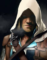 Assassin's Creed IV - Edward Kenway Portrait by GretaMacedonio