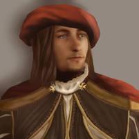 Leonardo da Vinci -Assassin's Creed- by GretaMacedonio