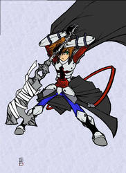 Kingdom Hearts Armor Colored by pychopat2