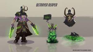 Demon hunter Reaper skin concept by Coadou